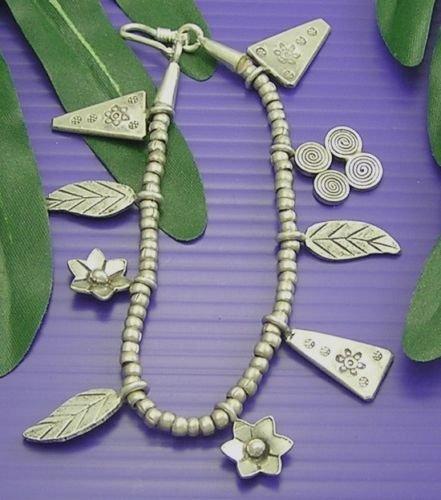 INFINITY KAREN HILL TRIBE 98% SILVER Handmade FLOWER LEAF TRIANGLE Bracelet B029 (Goddess Costume Diy)