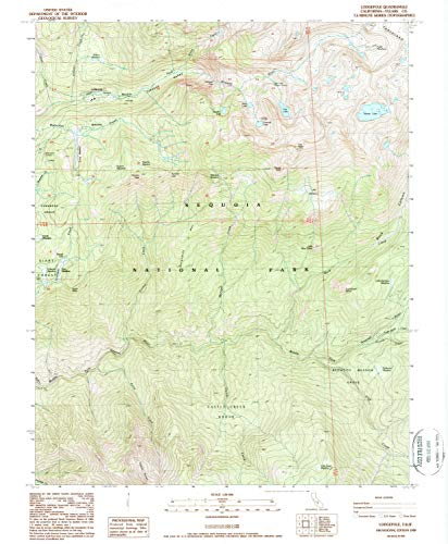 California Ca Panoramic Map - YellowMaps Lodgepole CA topo map, 1:24000 Scale, 7.5 X 7.5 Minute, Historical, 1988, Updated 1988, 26.6 x 21.9 in - Tyvek