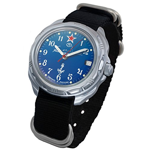 Vostok Komandirskie 2414 211289NB Russian Military U-boot Submarine Mechanical Watch by Vostok America (Image #1)