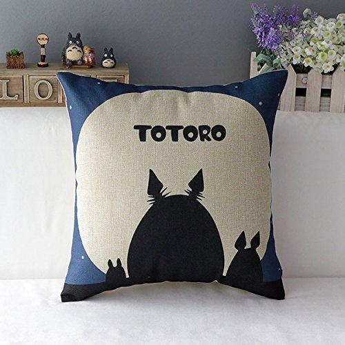 "17/"" Miyazaki Hayao Comic Animation Anime Manga Cartoon Cushion Cover Pillow Case"