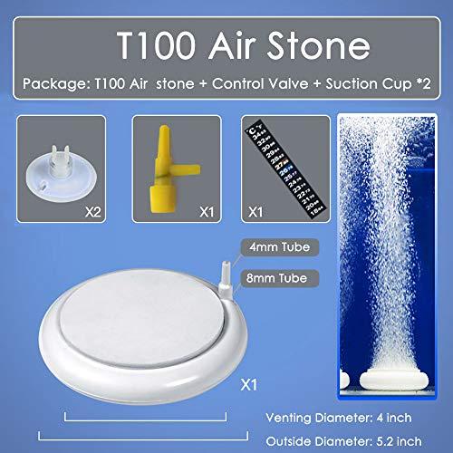 Capetsma Air Stone for Aquarium, Round Air Bubbler for Fish Tank Hydroponics Air Pump, Nanoscale Oxygen Diffuser Producing Ultra-High Dissolved Superfine Atomization Bubble, Fish Tank Decoration