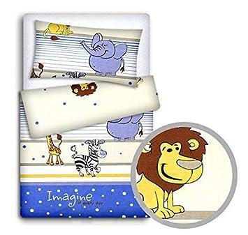 sowie Bettdeckenbezug 2-teiliges Bettw/äschebezugs-Set f/ür Babys bestehend aus Kissen grau mit wei/ßem Sternenmuster