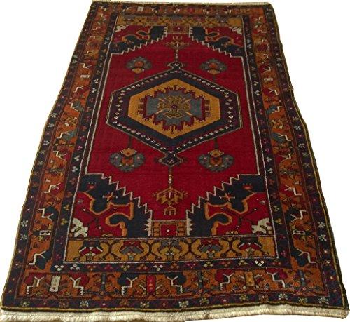Vintage Handwoven Area Rug Carpet 7.34 x 3.96 ft.