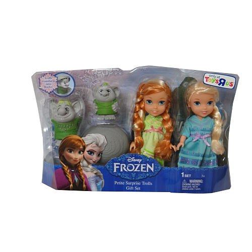 (Frozen Petite Toddler Princess & Surprise Trolls Doll Play Set)