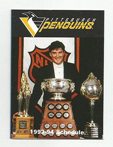 1993/94 Molson Beer Pittsburgh Penguins Pocket Schedule - Mario Lemieux
