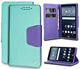 LG G Stylo Case, Mint/Purple Infolio Wallet Credit Card Slot Case Cover Viewing Stand for LG G Stylo (LS770, MS631), LG G Vista-2 (H740), LG G4 Stylus (H631, H634, H635) -  Beyond Cell