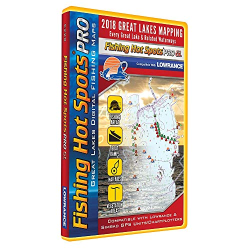 Fishing Hot Spots Pro Gl - 2018 Digital Map & Fishing Chip F/Lowrance & Simrad Units - Great ()