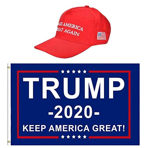 Pole Hat - WarmShine Trump Flag & 2020 Donald Trump Keep America Great Again Hat, Double Sided Printed,3 x 5 Ft (Style2)