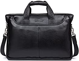 BOSTANTEN Prime Day Sac Serviette Cuir Homme de Business de Bandoulière de Porte-document