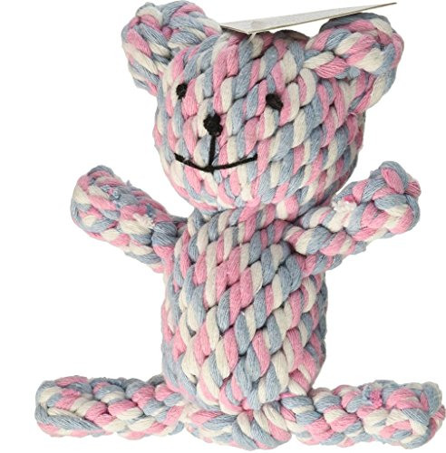 Dog Puppy Pets Toys Chew Teeth Cleaning Cotton Rope Toys Biting Resistant Braided Cute Woven animals Environmental-Bear