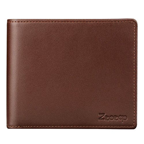 Mens Wallet Leather, Ztotop Slim Bifold RFID Blocking Wallet with 2 ID Window by Ztotop