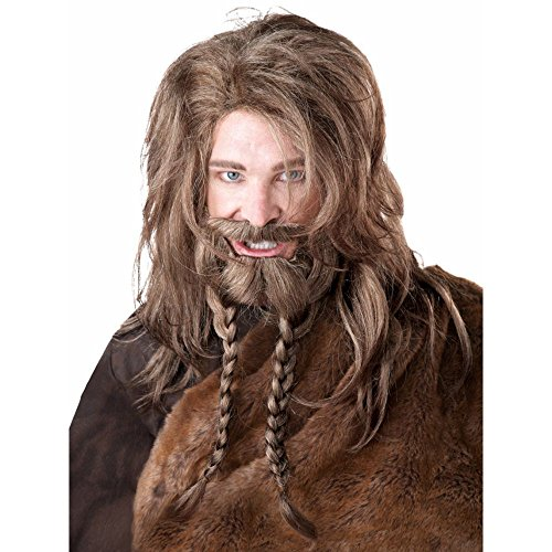California Costumes Women's Viking Wig Beard and Moustache, Dirty Blonde, One Size