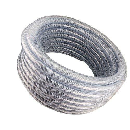 Kuriyama 1inch ID x 1.375inch OD Reinforced Clear PVC Tubing w/Polyester Braid