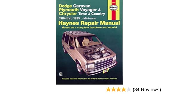 dodge caravan plymouth voyger and chrysler town country repair rh amazon com 2006 Dodge Caravan User Manual 1995 Dodge Grand Caravan