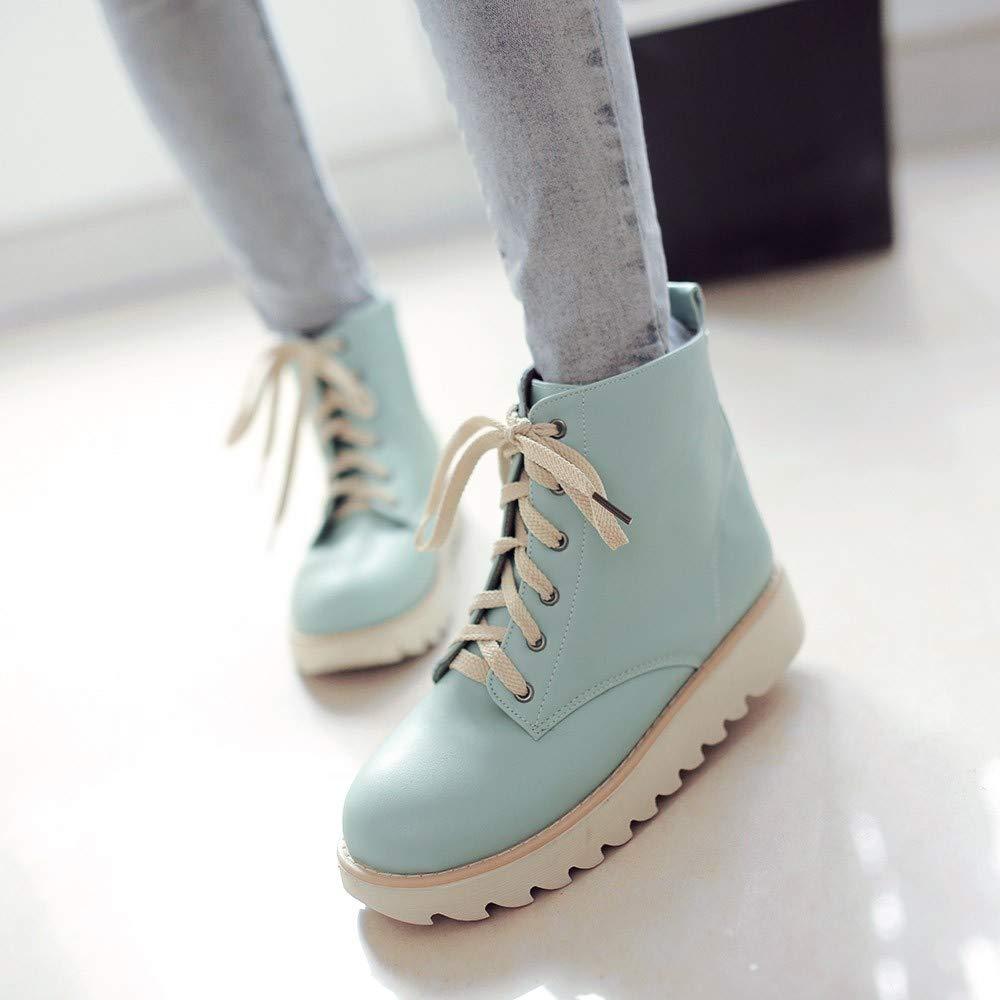 Zapatillas de Deporte Altas con Fondo Plano LILICAT® Zapatillas de Deporte Altas para Mujer Zapatos Altos Zapatos Casuales Zapatos con Cordones Zapatos ...
