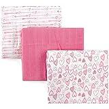 Luvable Friends 3 Piece Muslin Swaddle Blankets, Love - Best Reviews Guide