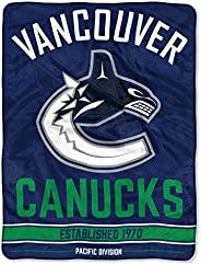 "The Northwest Company NHL Vancouver Canucks Break Away Micro Raschel Throw Blanket, 46"" x 60&q"