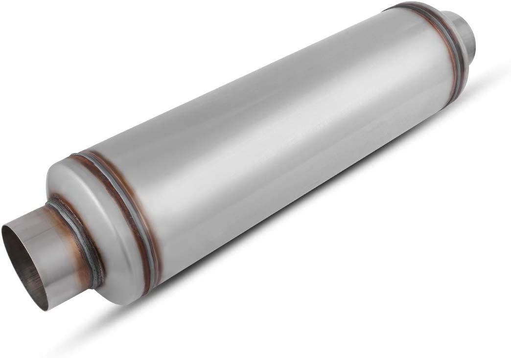"""4"""" Inlet/Outlet Muffler, AUTOSAVER88 Universal Stainless Steel Welded Exhaust Resonator for truck, 30"""" Overall Length"""