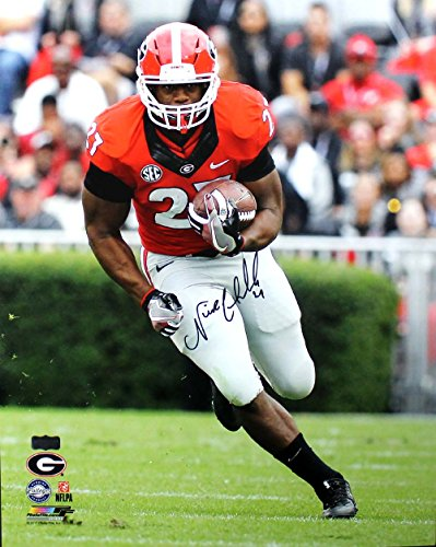 Nick Chubb Autographed/Signed Georgia Bulldogs NCAA 16x20 Photo - Running -