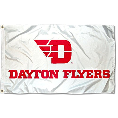 UD Flyers White College Flag
