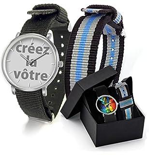 Préférence Montre personnalisable avec une photo + Coffret deux bracelets  AK97