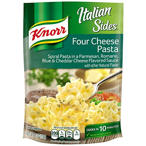 Knorr Italian Sides Pasta Side Dish, Four Cheese Pasta 4.1 oz (Pack of (Italian Pasta Rice)