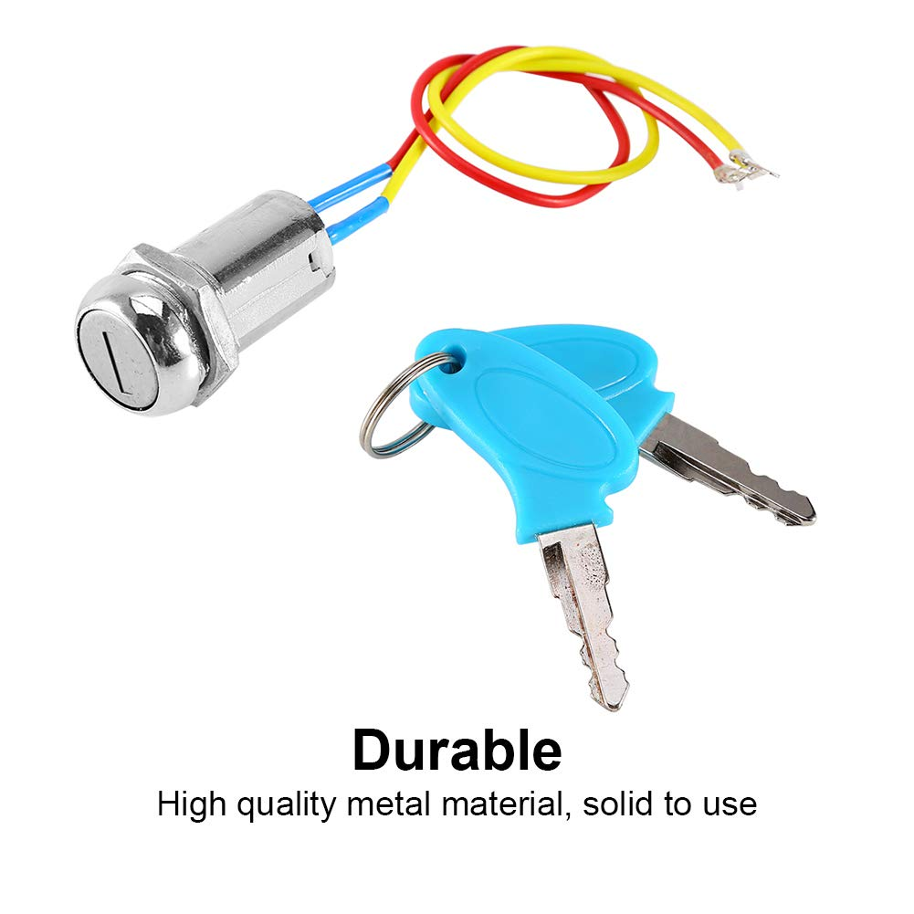 Folding bicycles 2 Wire Ignition Key Switch Lock AVT Electrombile Karting Keenso Motorcycle Ignition Starter SwitchUniversal for Scooter