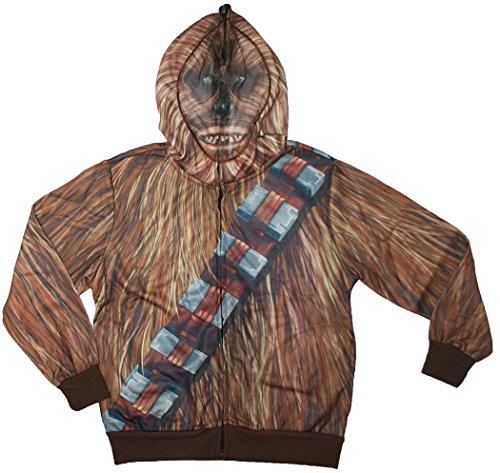Chewbacca Costume Hoodie (Star Wars The Force Awakens Big Boys Chewbacca Costume Hoodie (Small (8)))
