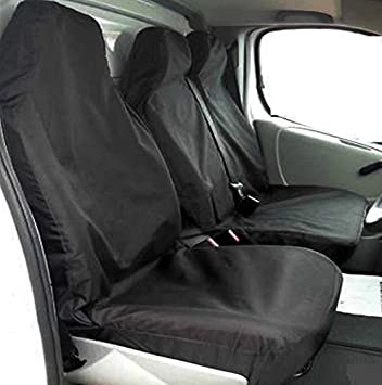 VAN SEAT COVERS GREY HEAVY DUTY WATERPROOF 2-1 VAUXHALL VIVARO 2016 ONWARDS