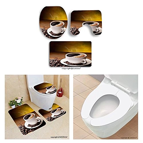Gzhihine custom toilet seat three-piececoffee cup and saucer on a wooden table dark