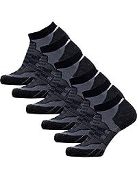 Low Cut Wool Running Socks – Cushioned Merino Wool Athletic Socks for Men and Women, Moisture Wicking