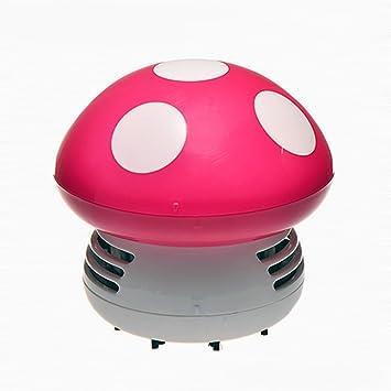 Aspirador para aspiradora de escritorio con aspiradora de mini seta para limpiar el polvo de la mesa y aspiradora rosa (b): Amazon.es: Hogar