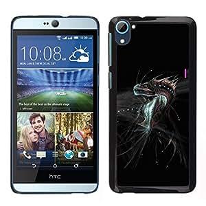 Caucho caso de Shell duro de la cubierta de accesorios de protección BY RAYDREAMMM - HTC Desire D826 - Dragón de la fantasía del monstruo