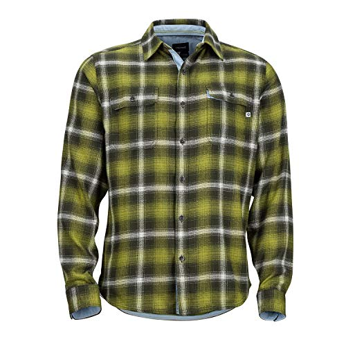 Marmot Men's Jasper Midweight Flannel Long Sleeve Fatigue Medium