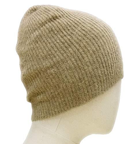 Meesty Wool Alpaca Knit Warm Winter Skull Beanie Hat Cap for Men and Women (Oatmeal) (Alpaca Wool Warm Cap)