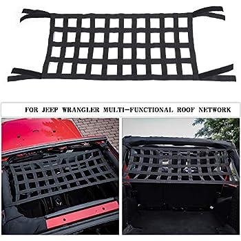 44bca78f056 Mesh Cargo Net, Auto Roof Net Hammock for Jeep Wrangler YJ TJ JK JKU JL JLU  1987-2019