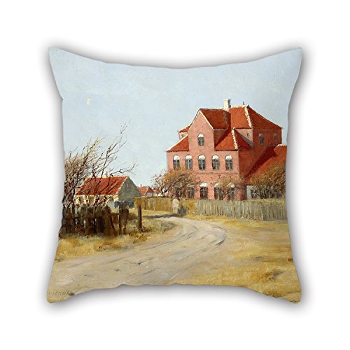 The Oil Painting Johan Peter Von Wildenradt - The Architect Ulrik Plesner's First Extension To Br?ndum's Hotel Pillow Cases Of 20 X 20 Inches / 50 By 50 Cm Decoration Gift For Couples Office Divan (Architect Denim)
