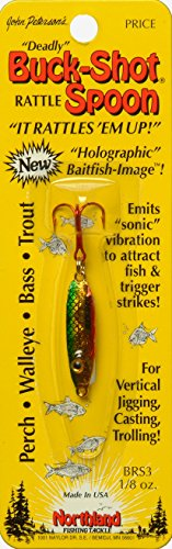 Northland BRS3-23 Buck-Shot Rattle Spoon, 1/8-Ounce, Golden (0.125 Ounce Perch)