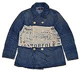 Polo Ralph Lauren RRL Men Nautical Peacoat Denim Jean Jacket Coat USA Large