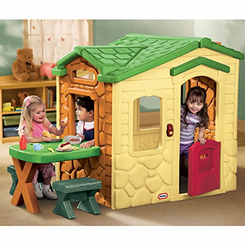 Cosy Little Tikes Home Garden Playhouse. Little Tikes Picnic on The Patio Playhouse Natural  Amazon co uk Toys Games