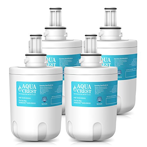 Price comparison product image AQUACREST DA29-00003G Refrigerator Water Filter Replacement for Samsung DA29-00003G,  DA29-00003B,  DA29-00003A,  Aqua-Pure Plus,  HAFCU1 Water Filter (Pack of 4)