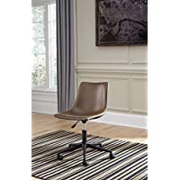 Brown/Black Base Home Office Swivel Desk Chair Dimensions: 18W x 19.5D x 34.25H Weight: 19 Lbs Features Manual Tilt, Height Adjustable Seat & 360 Degree Caster Bases