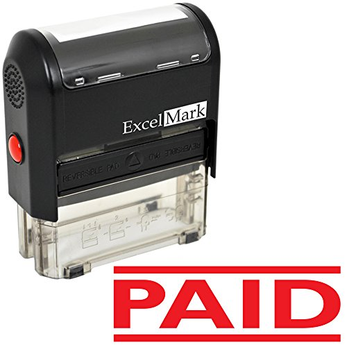 PAID Self Inking Rubber Stamp - Red Ink (ExcelMark A1539)