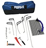 Furuix Auto Parts Repair Set Paintless Dent Repair Tools Dent Removal PDR Rod Set Car Dent Puller Auto Body Tools Tap Down Hammer