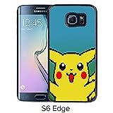 Fashion Designed Pokemon 18 Black Samsung Galaxy S6 Edge Phone Case