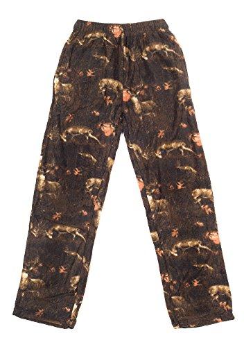 - North 15 Boy's Cozy Camouflage Polar Fleece Lounge Pants-1231B-Print2-18