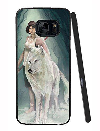 Princess Mononoke Dessin Loup Blanc Homme Couverture Pour Samsung