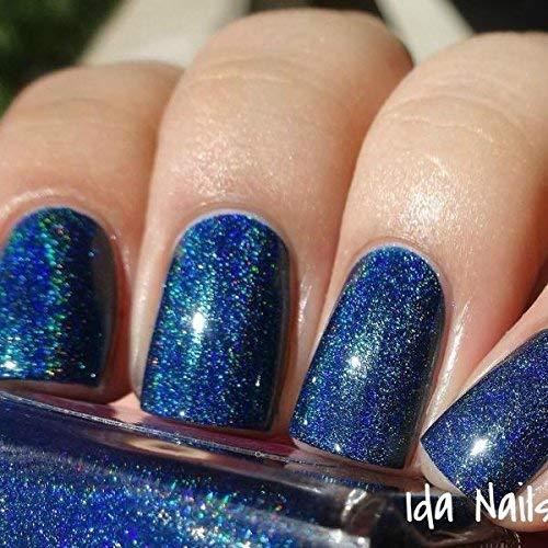 Amazon.com: Bat-chelor Pad - navy blue holographic nail polish by ...