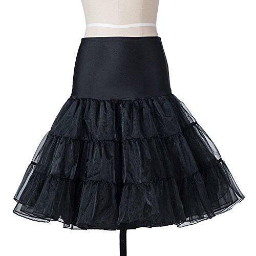 Sottogonna Retro Da Sposa 50s Nero Ishine Rockabilly Vintage Gonna Vestito Per Abito S Petticoat Z5pvgwdq