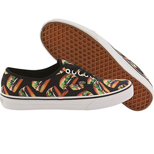 VANS Unisex AUTHENTIC Sneakers Skate Shoes (6 B(M) US Women / 4.5 D(M) US Men, (Late Night) Black/Hamburger)